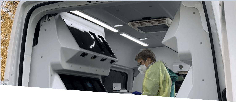 Unterstützt von LRE Medical als Hersteller von SARS-CoV-2-Diagnosegeräten für Near-Patient / Point-of-Care-Anwendungen!